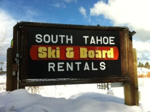 Ski&Board Sign wSnow